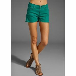 RAG & BONE Kelly Green Cut Off Jean Shorts 26 NEW